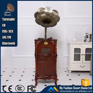 Portable retro radio cd player with technics turntable/indian gramophone