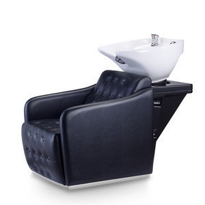 Professional Beauty Salon Backwash, Chair Adjustable Comfortable Head Shampoo Bed//