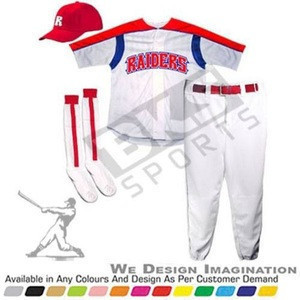Red and white best design new baseball jersey