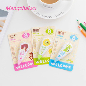 Spain school  vintage fancy stationery items list cartoon animal printed school supplies deco white out correction tape roller