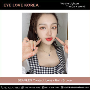 Superb Sale BEAULEN Ruin Brown Colored Contact Lens