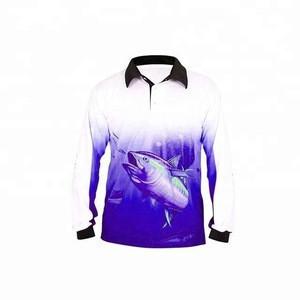 UPF 50 UV  Custom Sublimated Fishing Jerseys