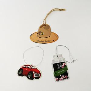 Wholesale  promotional custom paper car air freshener hanging