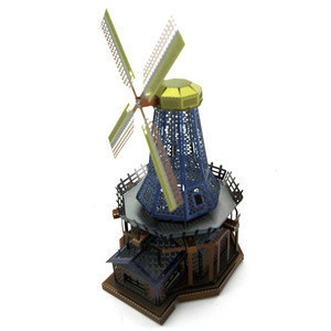 XiaoTeng New design 3D metal Jigsaw puzzle colours windmill model