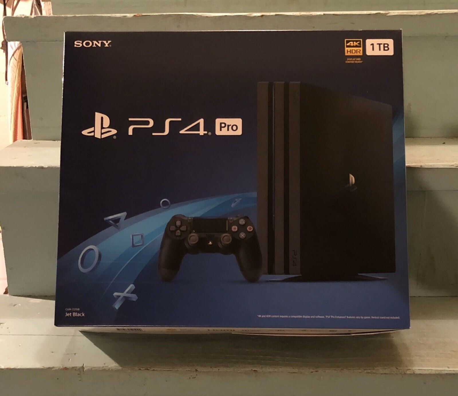 Sony PlayStation 4 PS4 Pro 1TB Console 4K CUH-7215B Jet Black Brand New Sealed