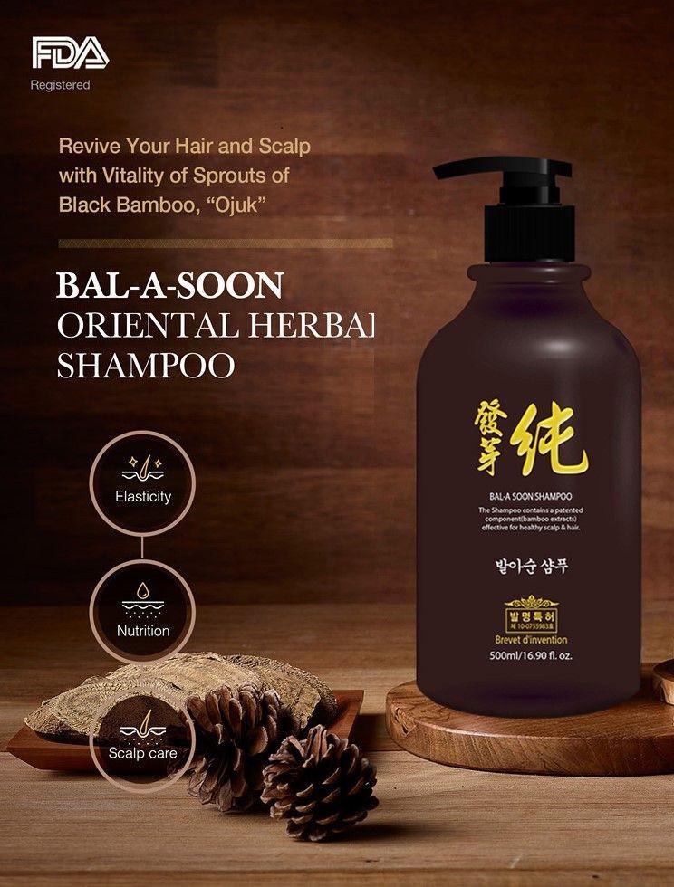 Natural Herbal scalp care anti-hair loss Bal A Soon Shampoo 500ml