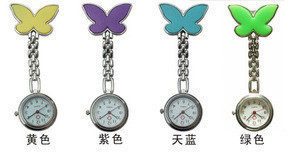 100pcs Nurse Fob Watch Women Watches Pendant Clock Butterfly Shape Watch