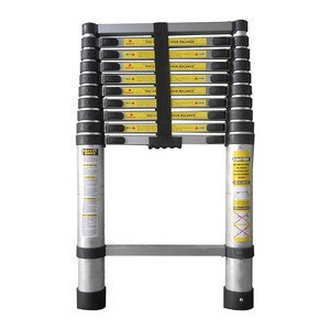 3.8 3.2m China high quality  EN131 aluminium telescopic ladders  with safety lock