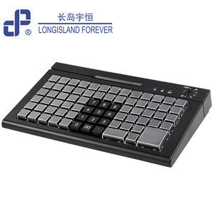78 keys usb fully programmable keyboard with magnetic card reader for pos system