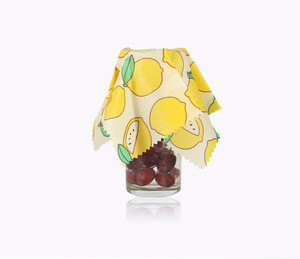 Beeswax Reusable Food Grade Biodegradable Shrink Wrap Film For Food Bees Food Wraps