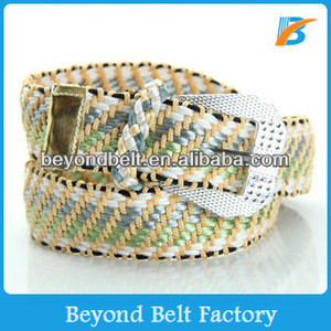 Beyond Womens Polyester Rope Knitted Jeans Belt