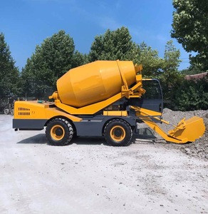 Construction equipment mixture concrete machine self loading concrete mixer