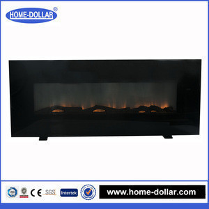 CSA and CE certificate custom size recessed glass indoor fake flame electric fireplace