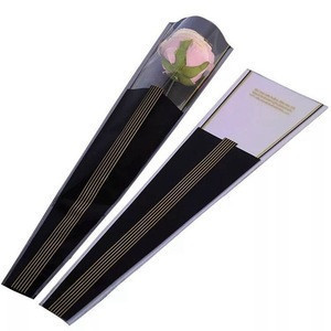 Custom Printing Biodegradable Gift Plastic Clear BOPP Flower Sleeves
