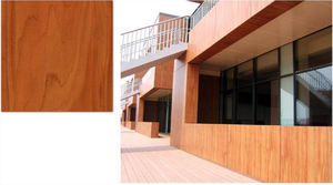 Decorative HPL sheet plywood board with embossed grain