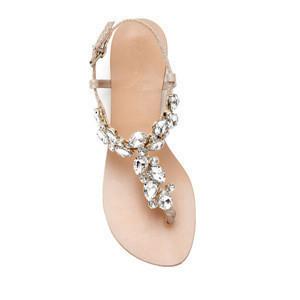 Designs Summer Women Shoes Flat Sandal Beautiful Shiny Rhinestone Girls Flat Sandals