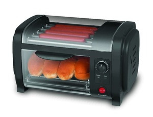 Electric 5 roller hot dog stand bread maker for home use