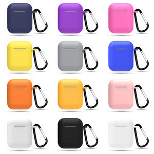 Factory price Full Protective Silicone earphone case cover earbuds housing earphone shell case cute cases for airpods1&2