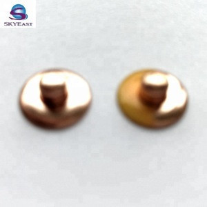 Fashion Style Two Tones Painted and Plated Nipple Cap Jean Metal Rivets