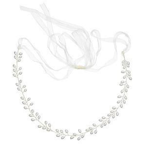 Handmade Luxury wedding accessories white pearl Ribbon bridal waist belt