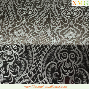 High quality chemical polyester fancy embroidery lace fabric for wedding dress