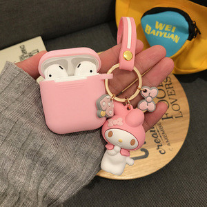 Hot cute melody cinnamoroll earphone headset accessories silicone case for Airpods protective wireless bluetooth box