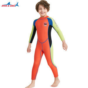 Kids Wetsuit 2.5mm Neoprene Thermal Swimsuit Boy's One Piece Wet Suits for Scuba Diving