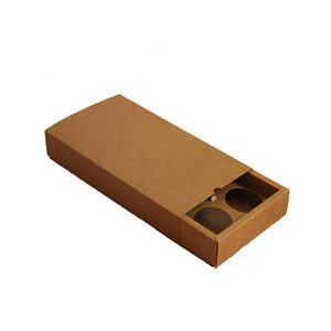Kraft paper custom mooncake box with ribbon