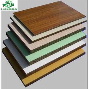Manufacturer 18mm wood grain color melamine faced particle board