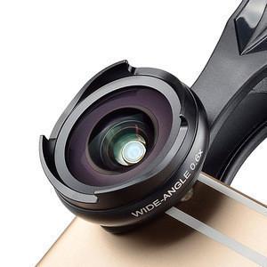 Mobile Phone Camera Lens Kit - 4K HD Wide Angle lens + Macro with Lens Hood Clip-On Cell Phone Camera Lenses Kit