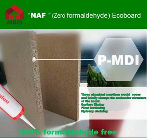 NAF grade top quality melamine board(MDI glue)