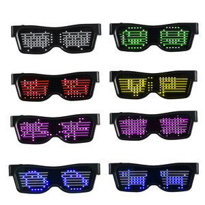 Newest Programmable LED Flashing Glasses Rave eye glasses By APP for Fun and Unique DIY Party