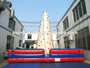 Outdoor inflatable rock climbing wall for sale