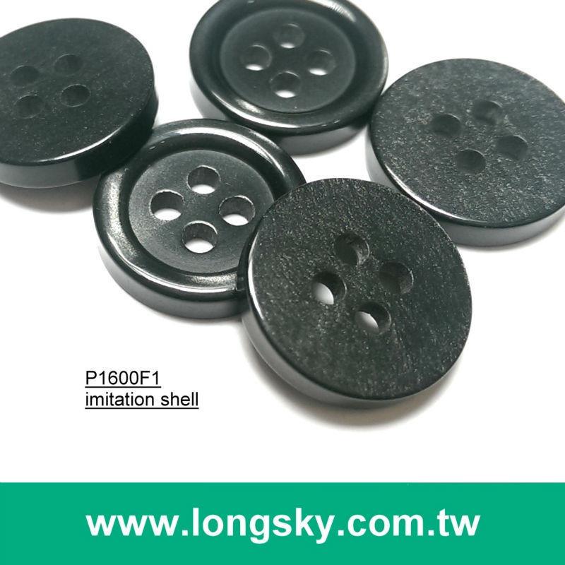 (#P1600F1) 20L, 22L, 26L Classic black shirt buttons, trousers, pants buttons