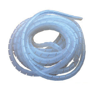 PE plastic spiral wire wrapping bands cable sleeve with CE ROHS