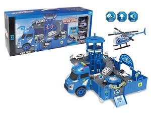Police Car Airplane Parking Set Slot Toys Truck Track  For Children