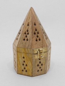 Pyramid/ Cone Design Wood Incense Holder / Incense Burner / Arabic Bakhoor