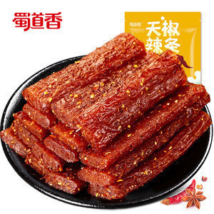 Shu Dao Xiang Spicy Strip 100g Chinese Snack Food Wholesale Manufacturer OEM Bulk Spicy Gluten Snack Latiao