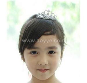 Wholesale handmade Childrens diamond crown little princess hair combs head straps headdress flower Baby crystal diamond tiara