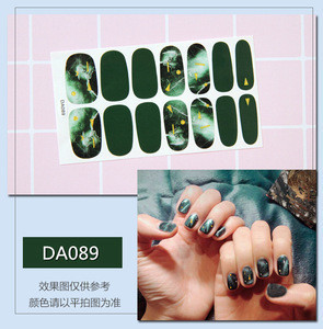 Wholesale Item Girls Korea 3D Nail Sticker Nail Wraps Sticker Decals
