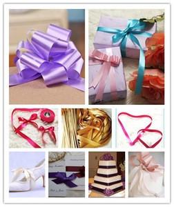 Wholesale Polyester Satin Gift Packing Ribbon