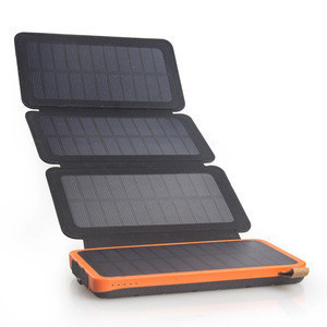 100% Full Charging by Sun Foldable Waterproof Solar Power Banks  8000mah Solar Power Battery Charger with Attached Solar Panel