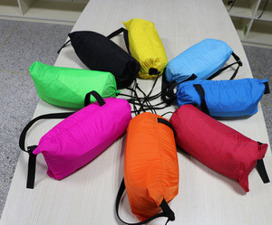 190T 210T 210D ripstop 260*70cm outdoor banana shape inflatable air sleeping bag