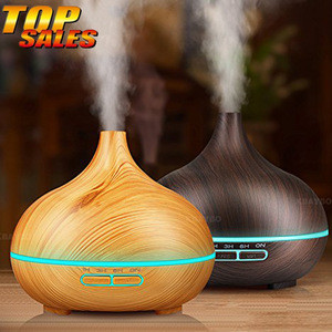 2020 Home 300ml Wood Grain Aromatherapy Aroma Essential Oil Diffuser 300 ml Portable Mini Wooden Ultrasonic Air Humidifiers