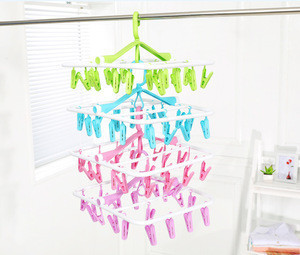 32 clips circular clothes drying hanger ,drying rack  clothes drying rack dish drying rack
