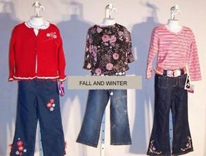 500 Pcs Designer Childrens Clothing (Fall / Winter)