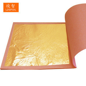 8 x 8 cm 25 pcs 23 K Genuine Booklet  Edible Gold Leaf Foil for Cooking Cakes Cooking Cakes & Chocolates Decoration
