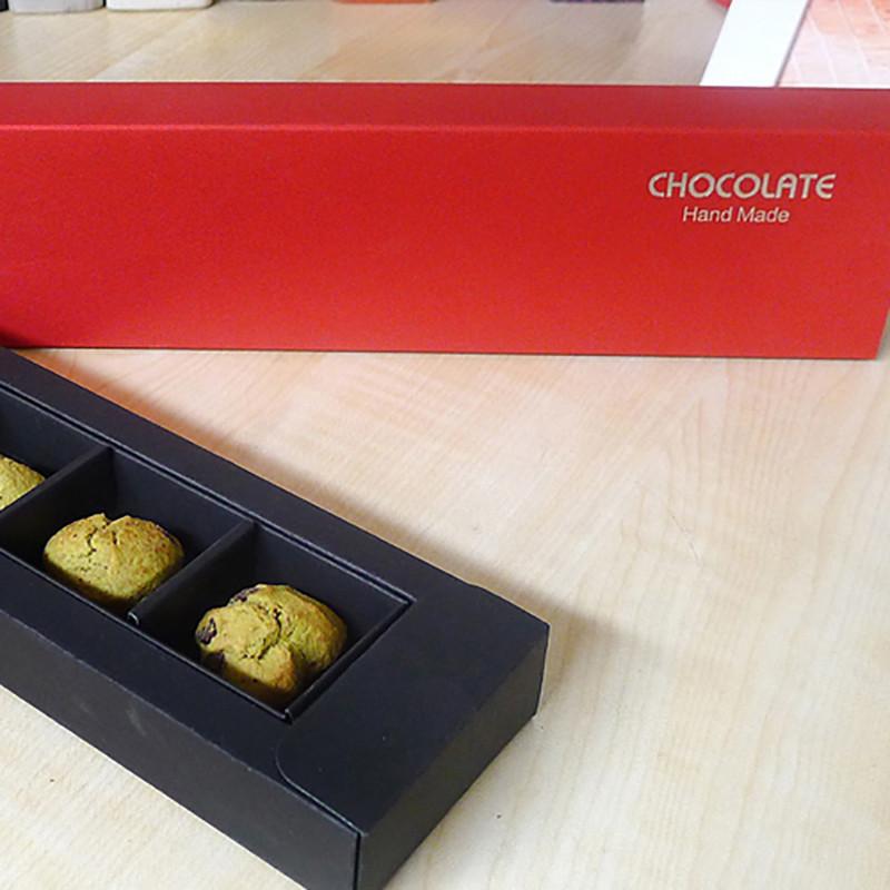 Beautiful Simple Design Red Paper Box Custom Logo Chocolate Packaging Box Cookies