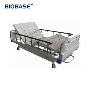 BIOBASE Punching Three-Crank Hospital Bed BK-304S Four PP Guardrails ABS Concealed Hand Crank with a Light