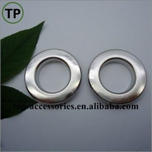 Brass metal plating flat eyelet for garment/shoe/bag accessories